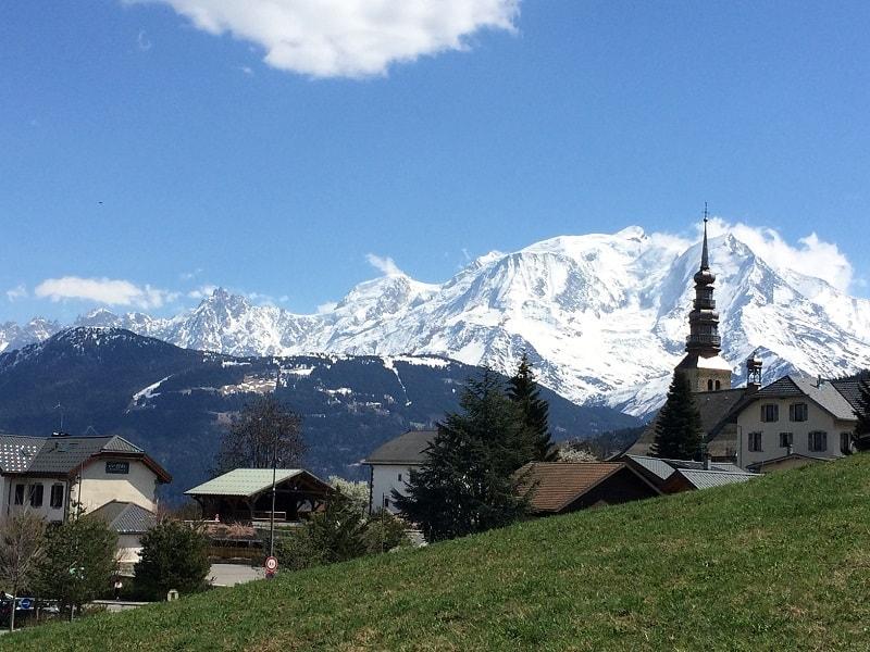 AlpAddict devant le Mont Blanc
