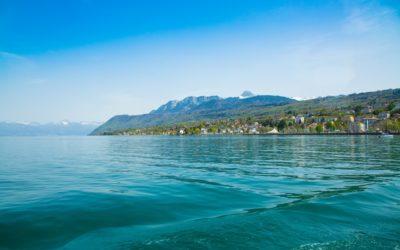 Lac Léman, la rive française