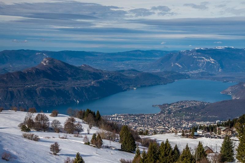 En hiver au lac du Bourget
