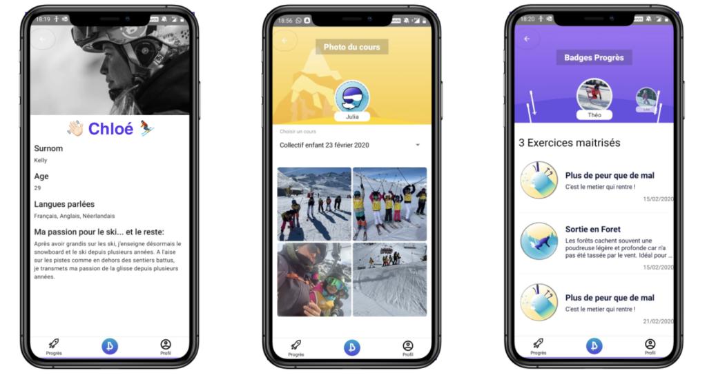Une App pour suivre les cours de ski